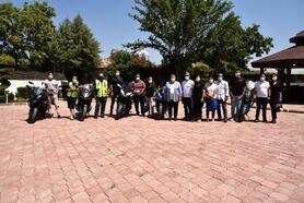 Başkan Erdem, motosikletlilerle bir araya geldi