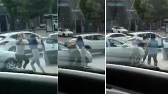 Antalya'da saç saça kavga! Kadın sürücüler birbirine girdi