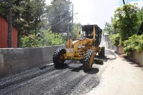 Zorkun Yaylası'nda asfaltlama çalışması