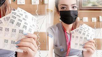 Bir günde 444 aşı yaptı! 'Dilan Hemşire'ye Başarı Belgesi