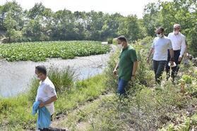 Vali Aktaş, Nilüfer Gölü ve Abdiağa Trekking Parkuru'nda incelemelerde bulundu