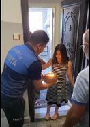 Zabıta ekiplerinden doğum günü sürprizi