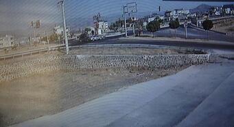 Gaziantep'te 2 kardeşin yaralandığı kaza kamerada