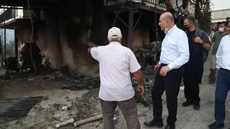 İçişleri Bakanı Soylu, Manavgat ve Akseki'de yangın bölgesinde incelemelerde bulundu