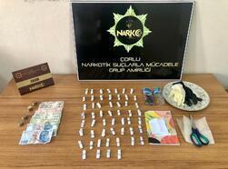 Çorlu'da polisten uyuşturucu baskını: 2 gözaltı
