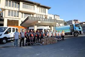 Eyüpsultan Belediyesi yardım ekipleri Kastamonu için yola çıktı