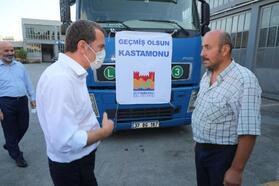 Kastamonu için Zeytinburnu'ndan yardım tırı yola çıktı