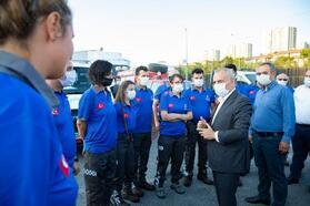 Küçükçekmece Belediyesi Sivil Savunma Ekibi, Batı Karadeniz için yola çıktı