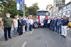 Beyoğlu'ndan Antalya'ya iki TIR yardım malzemesi gönderildi