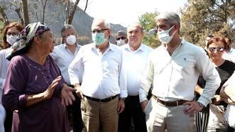 CHP'li vekillerden Marmaris'teki yangından zarar gören vatandaşlara ziyaret