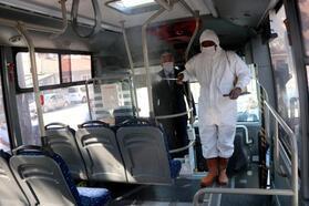 Edirne'de, toplu ulaşımda sefer başı dezenfeksiyon başladı