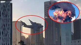 Son dakika: Şehir merkezinde alarm... Gökdelenlerin arasında dehşete düşüren görüntü!