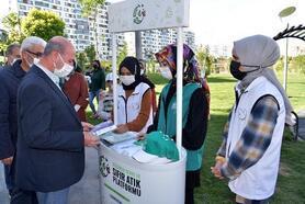 Selçuklu Belediyesi, 'Sıfır Atık' platformu site bahçelerine kurulan stantlarla vatandaşları bilgilendirdi