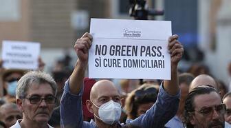 """İtalya'da """"Yeşil Geçiş"""" sertifikasına yönelik protestolar devam ediyor"""