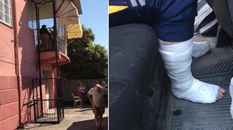 Mersin'de engelli asansörü düştü! 2 sağlık görevlisi yaralı
