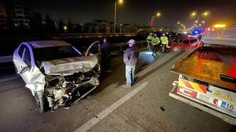 Bursa'da iki otomobil çarpıştı! Feci ölüm...