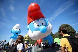 Brüksel'de 10. Çizgi Roman Festivali renkli görüntülere sahne oldu
