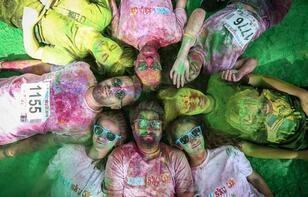 Bursa'da rengarenk koşu