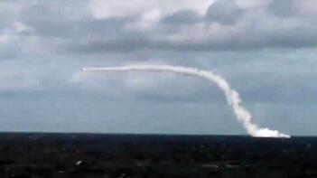 Nükleer denizaltı 350 km'den vurdu