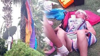 Rus turistin feci ölümü! Palmiyelere çarpıp yere çakıldı