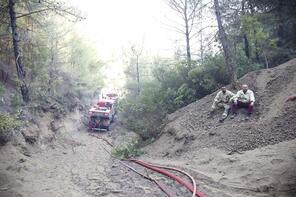 25 farklı noktada yangın kontrol altına alındı