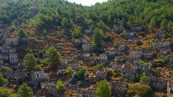 'Hayalet Köy'den ilginç manzara!