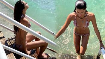 Berrak Tüzünataç'tan bikinili veda