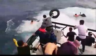 Tam o an... Bir anda denize atladı!
