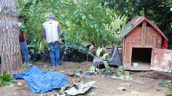 Üsküdar'da otomobil bahçeye yuvarlandı