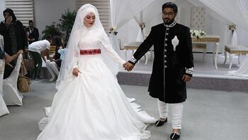 Hindistanlı damat Kayserili aşkı ile evlendi