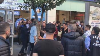 Sirkeci'de kavgaya polisten köpekli müdahale