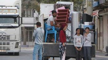 Teröristlerin havanlı saldırısından sonra Nusaybin'de taşınmalar başladı