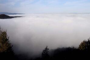 Bolu Dağı'nda sis güzel görüntüler oluşturdu