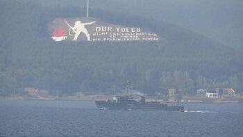Rus savaş gemileri Boğaz'ı geçti