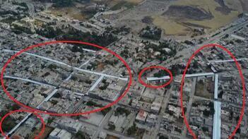 Resulayn'da teröristlerin kaçış koridorları, havadan görüntülendi