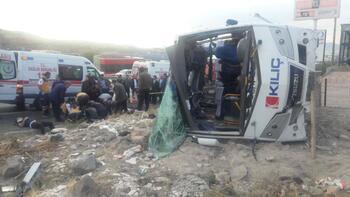 Kayseri'de korkunç kaza! Çok sayıda yaralı var