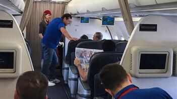 Uçakta sürpriz tesadüf