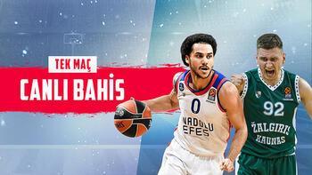 Anadolu Efes- Zalgiris maçı canlı bahis heyecanı Misli.com'da