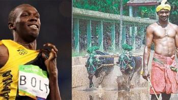 Usain Bolt'un rekoru tarlada kırıldı