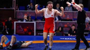 Avrupa Güreş Şampiyonası'nda Süleyman Karadeniz'den altın madalya