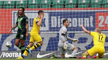 Wolfsburg-Borussia Dortmund: 0-2