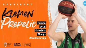 Valencia, Sloven basketbolcu Klemen Prepelici kadrosuna kattı