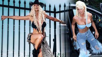 Jelena Karleusa deri bikinisiyle verdiği pozlarla büyüledi
