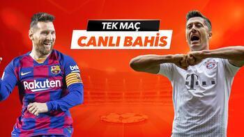 Barcelona - Bayern Münih maçı Tek Maç ve Canlı Bahis seçenekleriyle Misli.com'da