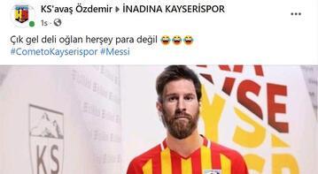 Kayserispor taraftarından Messi'ye çağrı: 'Çık gel deli oğlan'