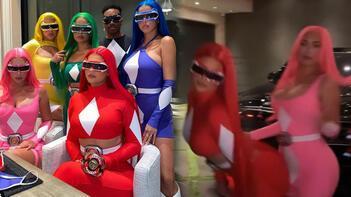 Kylie Jenner ve arkadaşları Power Rangers oldu