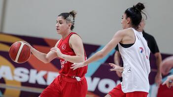 A Milli Kadın Basketbol Takımı, Sırbistan maçı hazırlıklarını sürdürdü