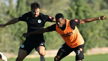 Konyaspor'da Eduok takımdan ayrı çalıştı