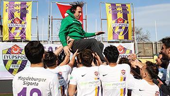 Eyüpspor'da TFF 1. Lig sevinci yaşanıyor