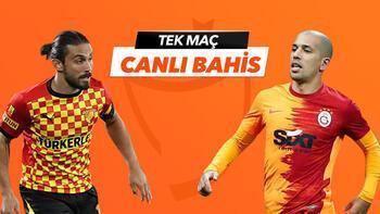 Göztepe - Galatasaray maçı Tek Maç ve Canlı Bahis seçenekleriyle Misli.com'da